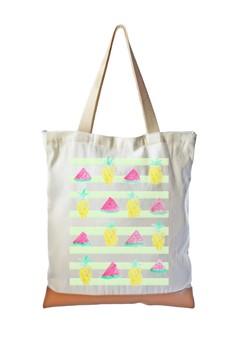 Tote Bag Pineapple x Watermelon Pattern