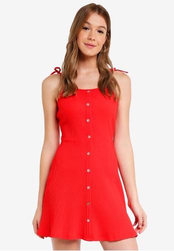 ZALORA red Knit Cami Dress 67AF3AAF810068GS_1