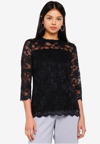 eb54bafc765 3/4 Sleeve Lace Shirt