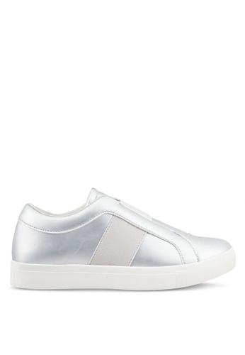 ZALORA silver Elastic Detail Sneakers 4A3C5SH00C4090GS_1