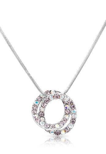 SO SEOUL purple and silver Glimmering Interlocking Multi-Coloured Lavender Necklace D0561AC5789B82GS_1