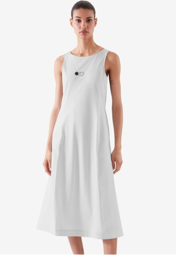 COS grey Flared Sleeveless Dress E7352AA12F2AC5GS_1