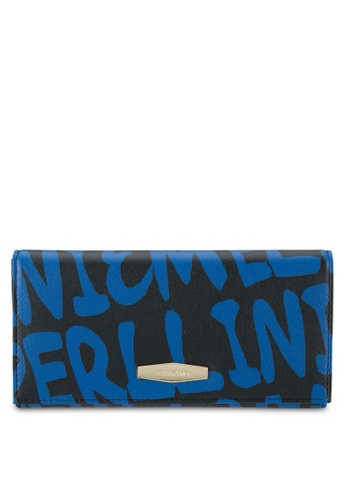 Perllini&Mel black and blue Faux Leather Long Wallet PE444AC0SBNGMY_1