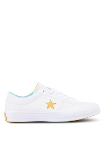 Converse white One Star Ox Sneakers CO302SH0SW89MY_1