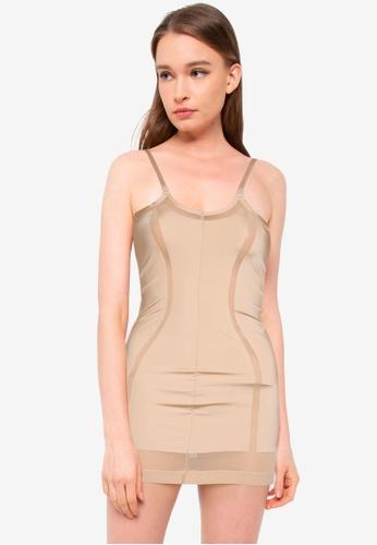 Calvin Klein 米褐色 Open-Bust Full Slip - Calvin Klein Underwear 3241BUS95C0BEAGS_1