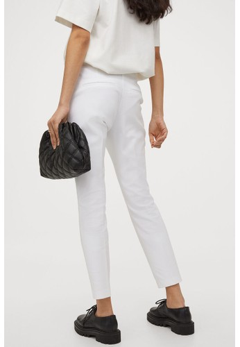 H&M white Cigarette trousers 63A86AA778F95DGS_1