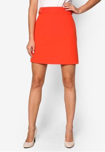 扣環腰帶A 字短裙、 服飾、 裙子DorothyPerkins扣環腰帶A字短裙最新折價