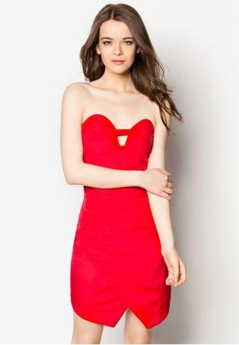 心型esprit衣服目錄領露肩性感洋裝, 服飾, 洋裝