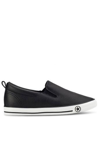 Twenty Eight Shoes black Basic Slip-Ons With Star 16396 A60D7SH2E94C24GS_1
