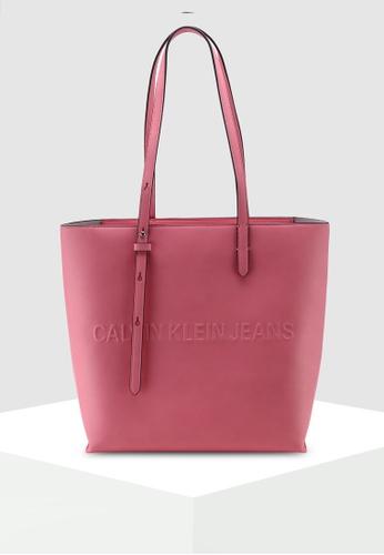 2b4d6f98824 Calvin Klein pink Tote Bag With Zipper - Calvin Klein Accessories  FF902ACC2672DBGS_1