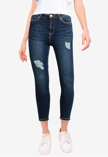 Miss Selfridge blue Petite Dark Wash Lizzie Jeans 39C22AAB71086FGS_1