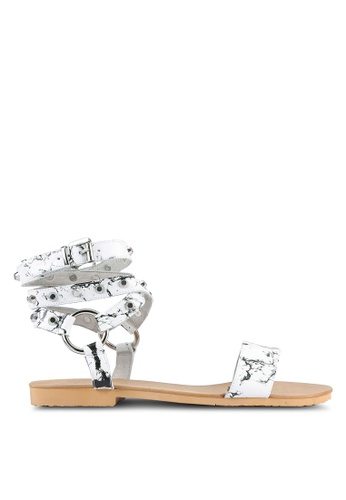 House of Avenues white Flat Sandals HO685SH0RRC2MY_1