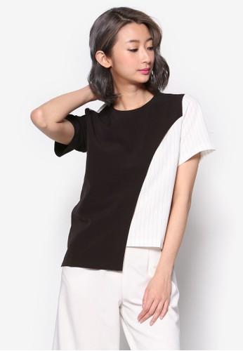 不對稱下擺撞色上衣, 服飾esprit分店, 簡約優雅風格