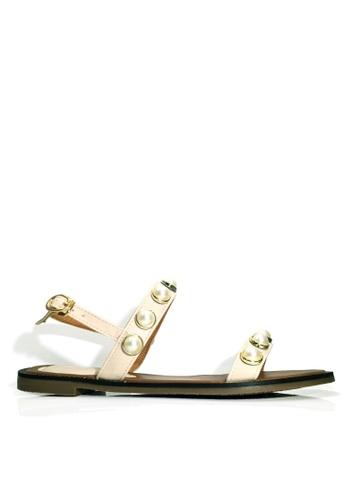 Twenty Eight Shoes beige Beaded Flat Sandals VS2281 1558ESHDFAD042GS_1