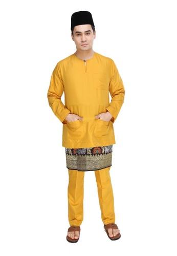 Amar Amran yellow Baju Melayu Teluk Belanga 4CBD4AAD323551GS_1