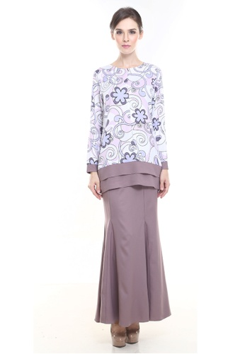 Alice Kurung in Dusty Purple from Rina Nichie Couture in Purple
