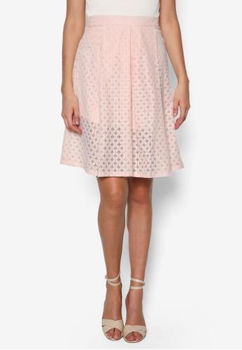 Petite zalora是哪裡的牌子蕾絲及膝短裙, 服飾, 裙子