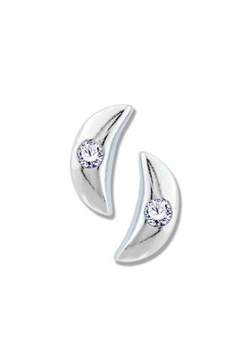 SC Tom Silver silver Moon Stud Stone Earrings-TESS020 SC872AC52OMDPH_1