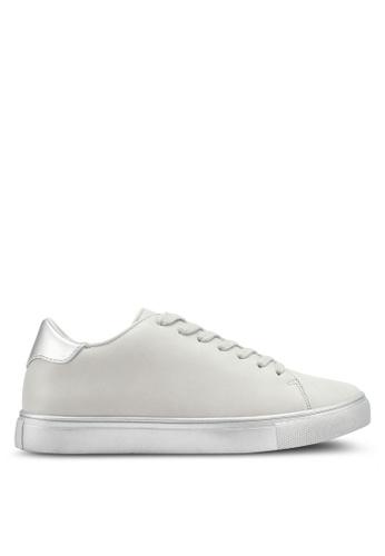 ZALORA grey Double Pu Detail Sneakers 13115SH93DF55BGS_1