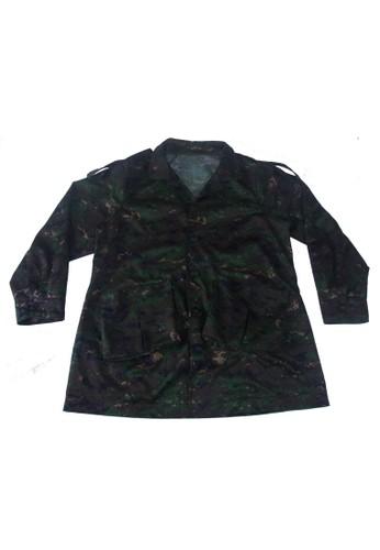 輕薄寬袖大尺寸迷彩大衣,esprit taiwan 服飾, 夾克 & 大衣