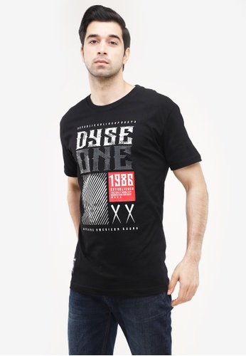 Dyse One black Round Neck Regular Fit B390AAACAECC17GS_1