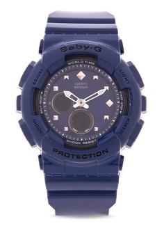 efe3db25bc02 Casio black BABY-G Digital Analog Watch BA-125-2A CA076AC60EKHPH 1
