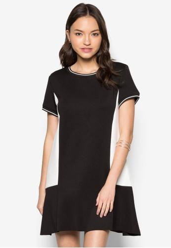 色款寬擺連身裙, 服zalora 手錶飾, 洋裝