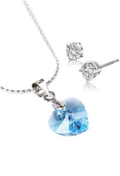 CELOVIS Genuine Swarovski ® Crystal Pendant (S-Sea Blue) + FREE Platinum  Chain bbad5faa26
