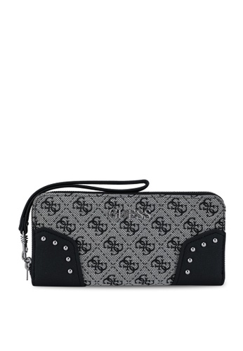 Guess black Frankie Sling Large Zip Around Wallet 263DEAC2C46E7FGS_1