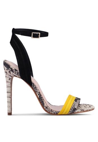 ALDO 黃色 一字帶繞踝高跟鞋 38005SH14E6DFCGS_1