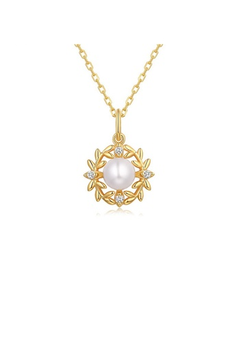 SUNSET gold Premium 925 Sliver Pearl Necklace B5521AC7BFC94AGS_1