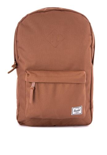 Herschel brown Heritage Backpack HE958AC0JZ7KPH_1