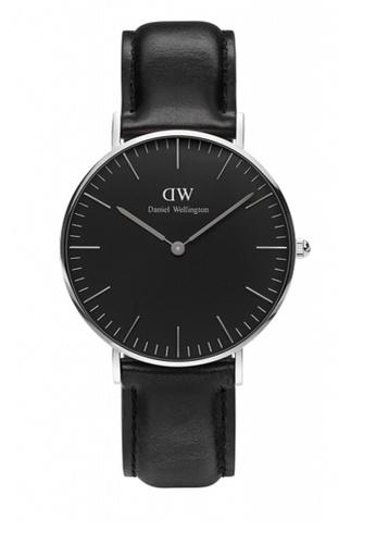 Daniel Wellington black and silver Classic Black Sheffield Watch 36mm DA376AC70NBXMY_1