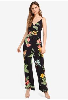 5ae675d6f6 WAREHOUSE multi Havana Print Jumpsuit D3181AA0456037GS_1