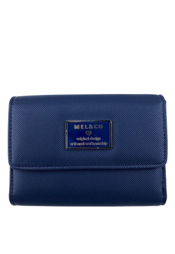 Mel&Co blue Faux Leather Mid-Size Wallet AAB11AC1C52A8AGS_1