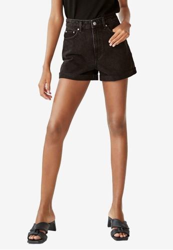 Mango black Rolled-Up Hem Denim Shorts C7432AADD5190AGS_1
