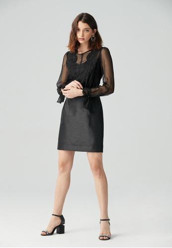 iROO black Shift Dress 88DB0AAA4E889BGS_1