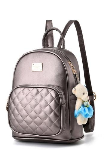 TCWK grey TCWK PU Multiple Grey Ladies Backpack TC258AC0RFOCMY_1