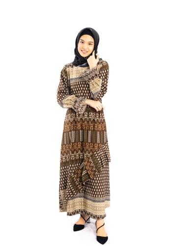Heart n Feel Muslim brown Maxmara Dress Muslim 7BF40AA60035C1GS_1