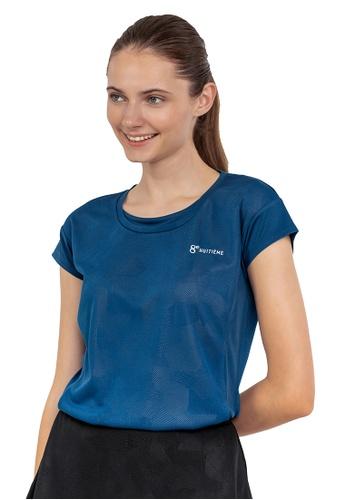 Huitieme blue HUITIÈME DRI FIT CAP SLEEVED BLUE TOP. 898A9AA9568DD5GS_1