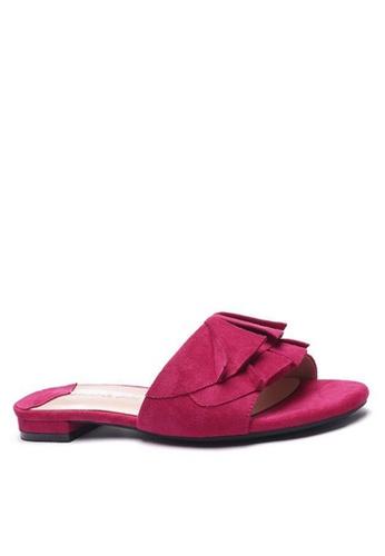 Twenty Eight Shoes Ruffled Flat Sandals 6848-1 8BEECSH03558F5GS_1