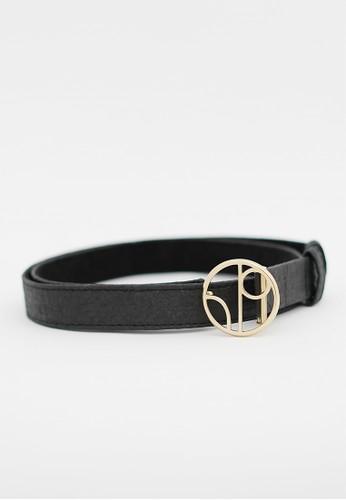 1 PEOPLE black Antwerp ANR - Thin Belt - Charcoal 8ED43AC0BFA4D3GS_1
