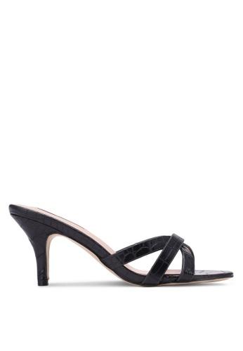 Nose black Animal Print Heel Slides NO327SH0S6TTMY_1