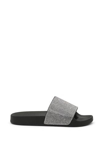 London Rag 黑色 London Rag 女士黑色格利特拖鞋 95154SH28BD471GS_1