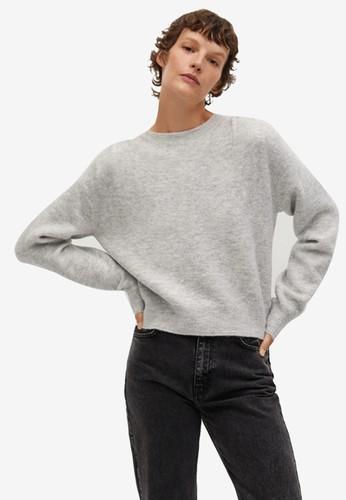Mango grey Pleated Knit Sweater 44FE5AA89AB4DFGS_1
