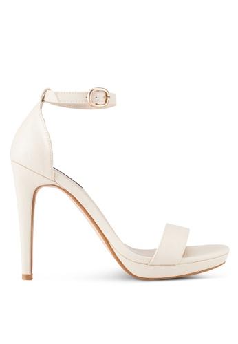 ZALORA beige Ankle Strap Heels 5D662SH30967C9GS_1