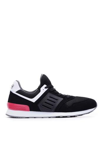Life8 black Sport Breathable Mesh Shark Running Socks Shoes-09868-Black 4608CSHB666889GS_1
