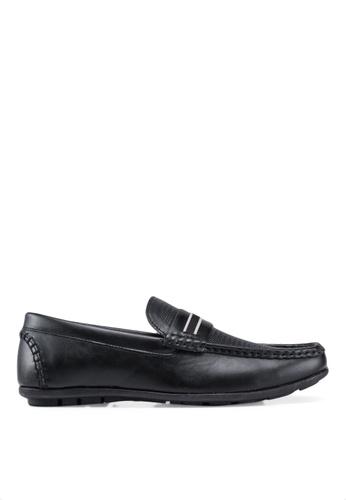 Bata 黑色 紋理樂福鞋 E4996SH3048F63GS_1