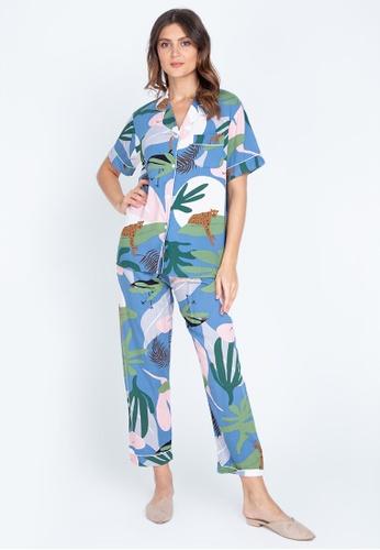FEMINISM blue Shortsleeve Pajama 13E69AAA9F52F8GS_1