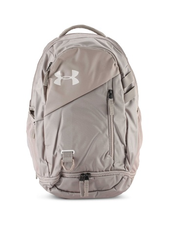 Under Armour brown UA Hustle 4.0 Backpack AB96EAC7018465GS_1
